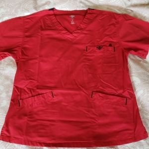 Med Couture Red Scrub Set Small